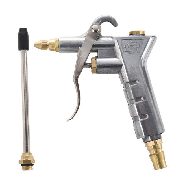 5pcs Set Zinc Alloy In Line Blowgun Compressed Air Rubber Tip Compressor Blower