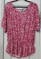 Women's Xl White, Red, And Pink Top By Izod Valentines Day