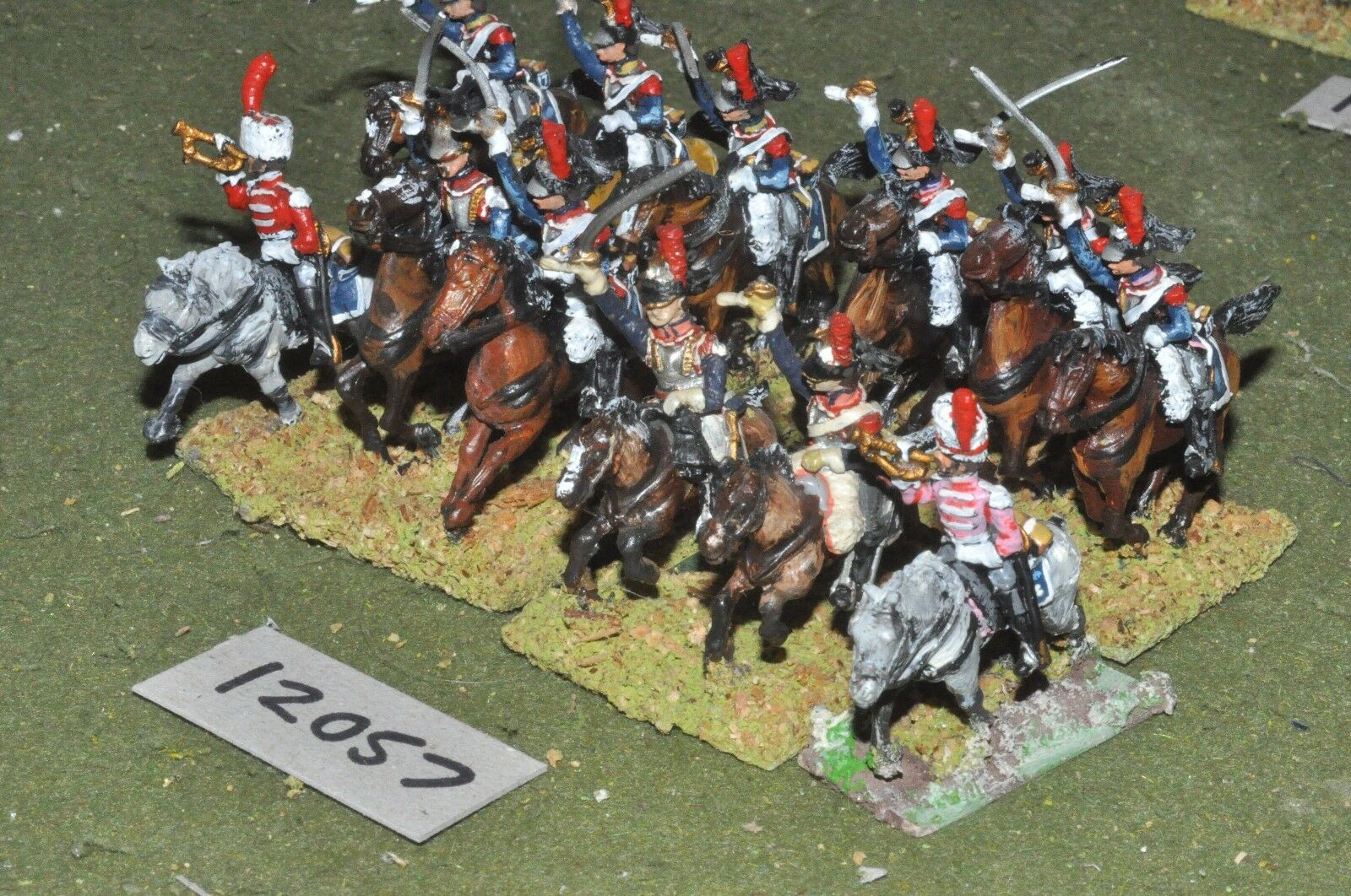 25mm napoleonic   french - cuirassiers 12 cavalry - cav (12057)