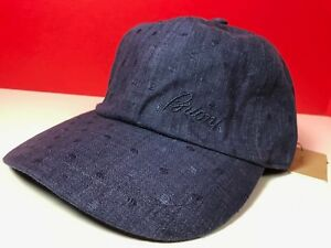 cc189fbea4d Brioni Hat Adjustable Baseball Cap Denim Look 100% Cotton Brioni ...