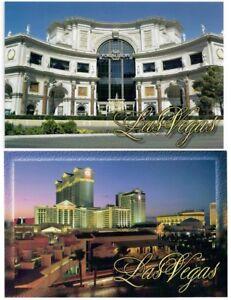 Details about 2 Caesars Las Vegas Hotel Casino Sunset night Forum Shops  VIEW postcard N ew
