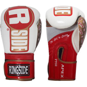 Ringside-Apex-Flash-Hook-and-Loop-Sparring-Boxing-Gloves-Red-White-Gold