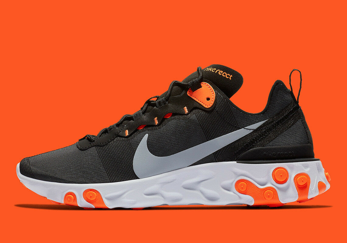 NIKE REACT ELEMENT 55 OG QS schwarz grau grau grau TOTAL Orange 87 UNDERCOVER 46 11 12 NEU bf4efb