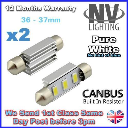 Error Free canbus 36mm VW Passat B5.5 B6 Pure White LED Number Plate Lights