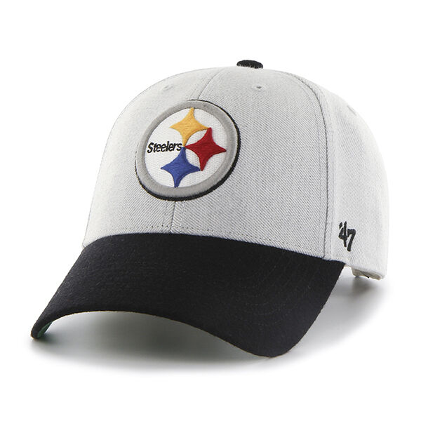 Buy Pittsburgh Steelers 47 BRAND Clean up Hat Adjustable Cap Ice Gray  online  1837f67b02f