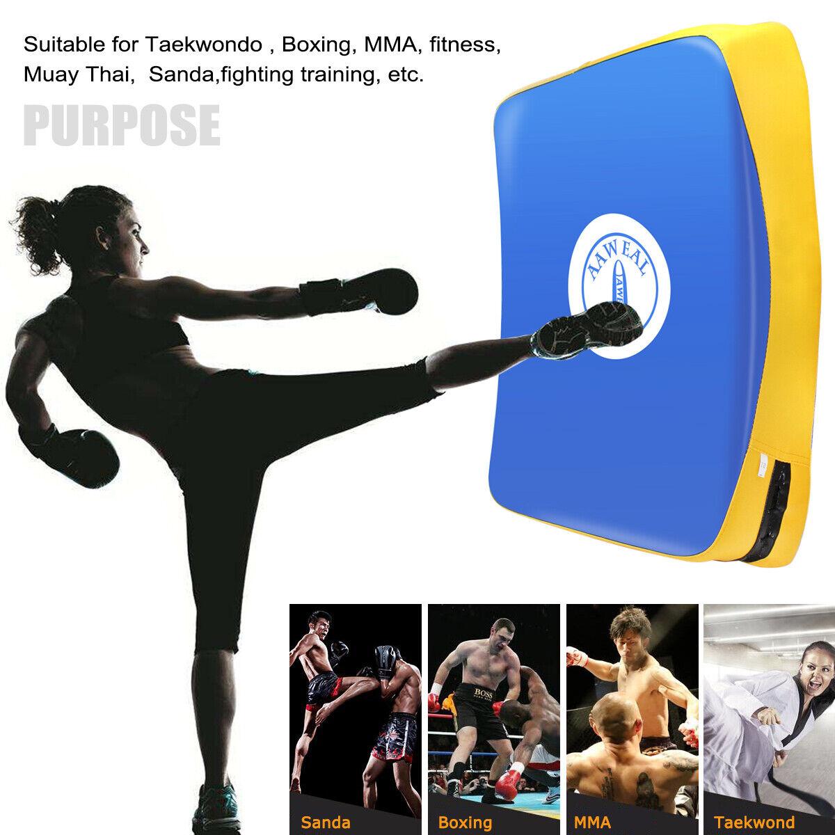 Muay Thai kick dojo Wuudi Hand pads 1 pair boxing training target focus impact pads boxing pads training pad kickboxing training hand pads for karate sparring MMA martial arts