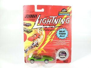 1995-Johnny-Lightning-The-Challengers-Custom-Spoiler-Light-Green-NEW-NOC