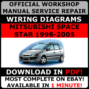 Official Workshop Service Repair Manual Mitsubishi Space Star 1998 2005 Ebay