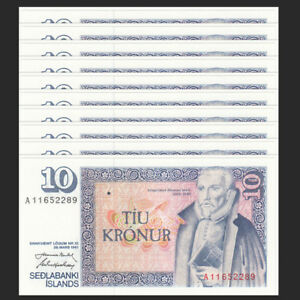UNC Iceland P 48-10 Kronur 1981