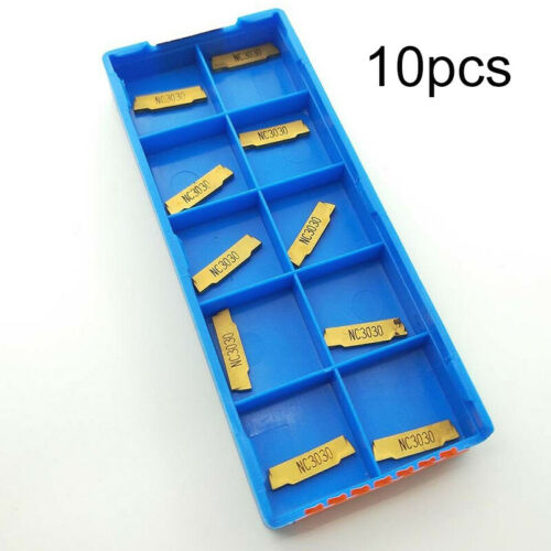 10pcs MGMN150-G 1.5mm Carbide Inserts Metalworking Tools For Slotting Cutting