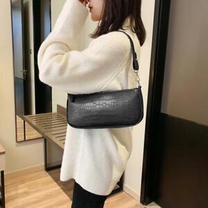 Vintage-Alligator-Pattern-Women-Handbag-Solid-Shoulder-Bag-Satchel-Purse-Clutch