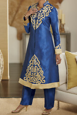 size L-XL Omri Pant Set blue & gold by Ashro new