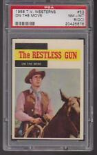 1958 Topps T.V. WESTERNS #53 ON THE MOVE PSA 8 (OC) nm/mt RESTLESS GUN