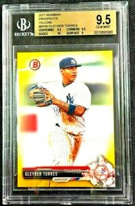 2017-Bowman-Prospects-YELLOW-Gleyber-Torres-Rookie-BP80-RC-BGS-9-5-w-sub-10