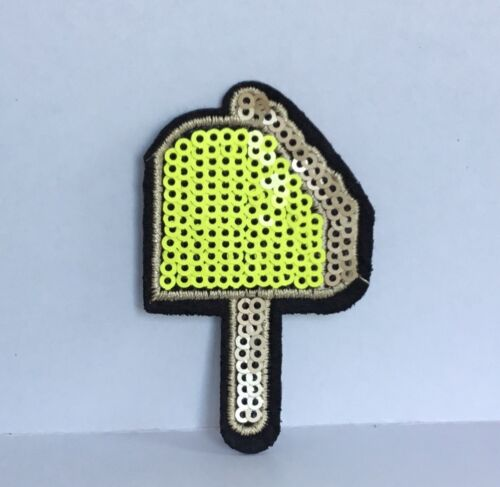 SEQUIN ICE LOLLY CANDY SUMMER EMBROIDERED APPLIQUÉ PATCH SEW OR IRON ON #507