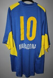 uk availability 92b99 9fab0 Details about BOCA JUNIORS ARGENTINA 2005 2006 HOME FOOTBALL SHIRT JERSEY  \#10 MARADONA