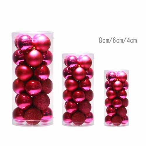 48Pcs Christmas Tree Xmas Balls Decorations Baubles Party Wedding Ornament #