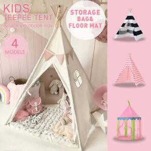 Details zu Tipi Zelt für Kinder - Kinderzimmer Spielzelt - drinnen draußen  Segeltuch Kinder