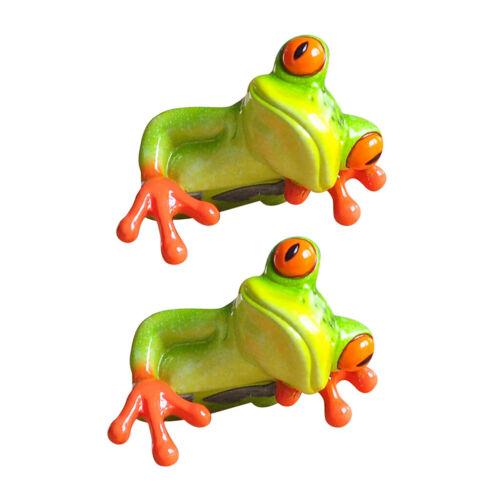 3D Resin Frog Figurine Miniatures Garden Micro Landscape Figure Decoration Craft