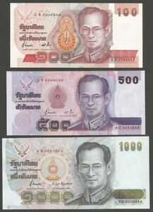 Thailand  King Rama IX and King Rama V banknote 100 baht Thai paper money