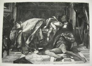 éNergique Alexandre Cabanel Mort De Francesca De Rimini Et De Paolo Malatesta Print C1900