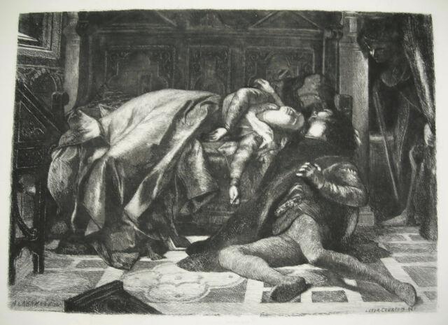 Alexandre CABANEL Mort de Francesca de Rimini et de Paolo Malatesta print c1900