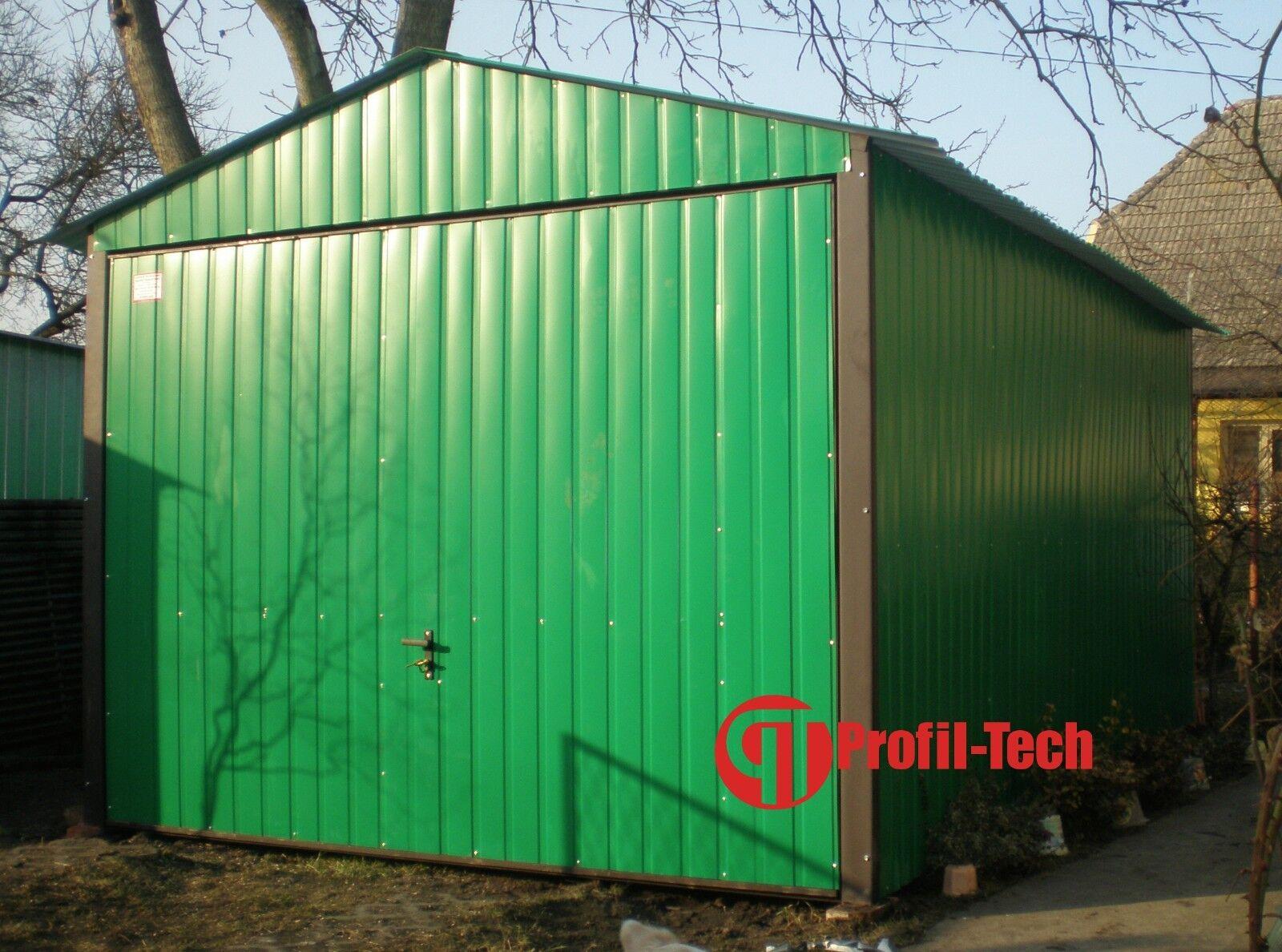 RAL 6032 4,0x6,0 Blechgarage Fertiggarage Metallgarage LAGERRAUM RAUM KFZ GARAGE