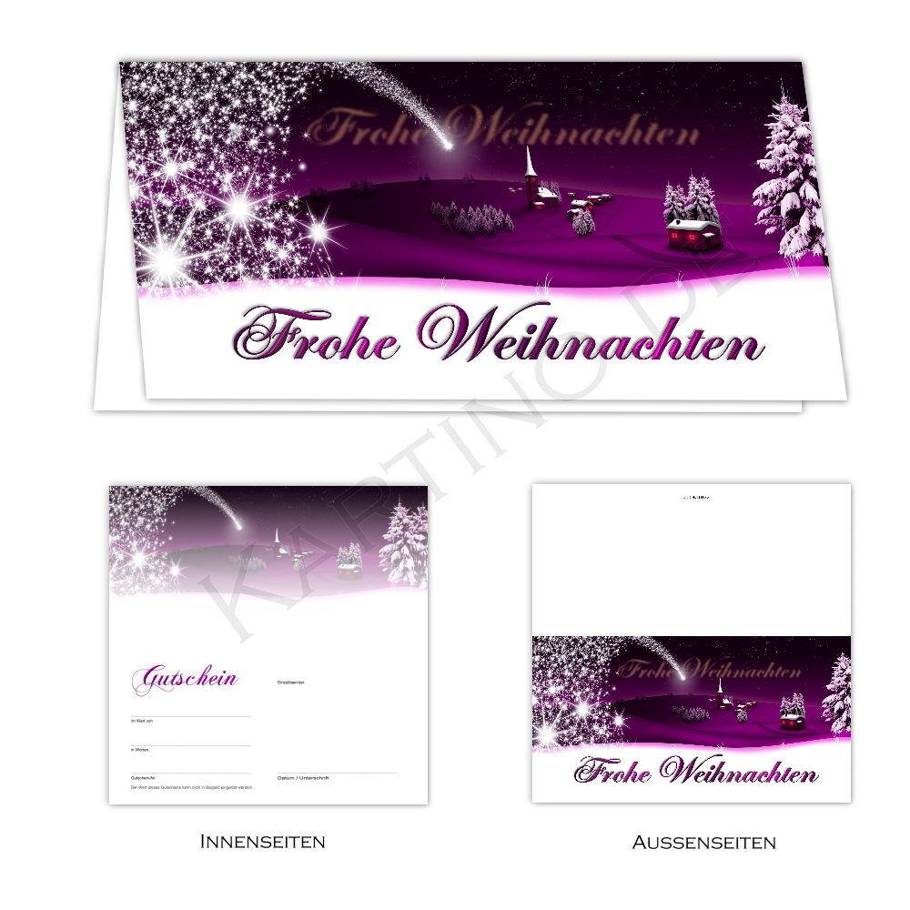 50 cupones de tarjetas plegable-cupón tarjetas vales de regalo regalo regalo de Navidad noble 3e620b