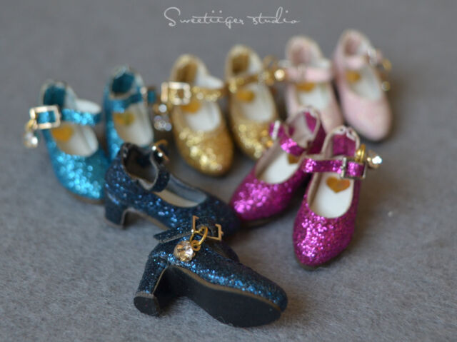 "【Tii】1/6 12"" Blythe Pullip doll shoes sparkle azone cherryB mmk clothes outfit"