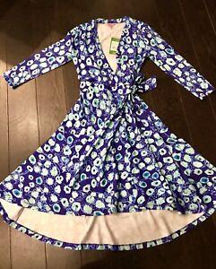 82bb1cf9c3321 Women s Lilly Pulitzer Rozaline Wrap Dress Royal Purple Lil Kitty ...