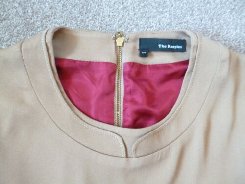 Xs The 4 6 Camel Trim Leather Dress Kooples qXOwX4T