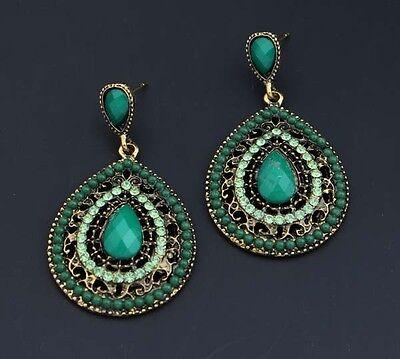 New 1 Pair Elegant Women Crystal Rhinestone Ear Stud Fashion Earrings Chain
