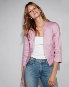 Blazer Pink xs Blend New Taglia Nwt Lino 00 button Cutaway White Express One w7xXC7q8