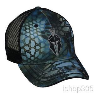f48827bf8a7 Kryptek Neptune Black Mesh Back Cap Hunting Hat Trucker Camo Hat ...