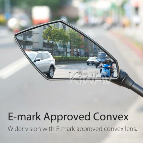 VAWiK mirror convex Deus black carbon pattern 10mm 1.5 pitch for BMW F800GS