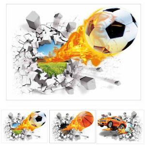 50x70cm Flying Fire Car Wall Sticker Decal Removable PVC Wall Sticker Home Decor