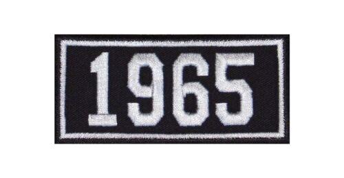 1965 Biker Patch ricamate anni numero anno di nascita BIRTH year ROCKER MOTO MC