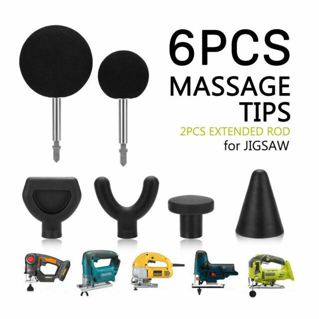 6pcs Percussion Massage Tip & Bit For Jigsaw Massager Attachment Adapter Worx CE