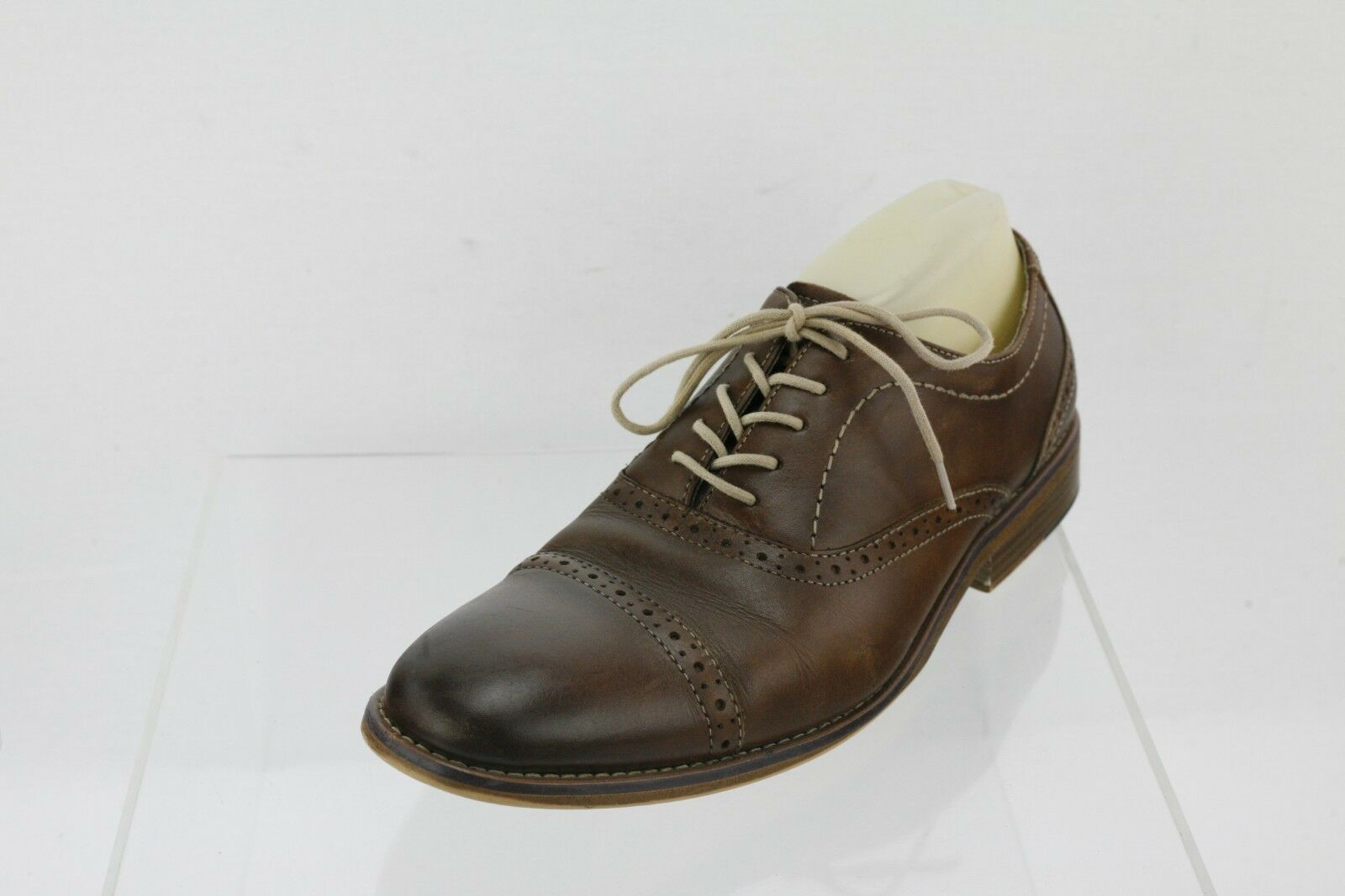 Men's Bass 70-10132 Brown Lace-up Formal Oxford shoes Size 9 M