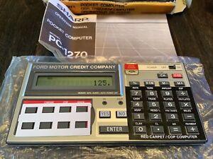 SHARP PC-1270 POCKET COMPUTER FORD MOTOR CREDIT CO