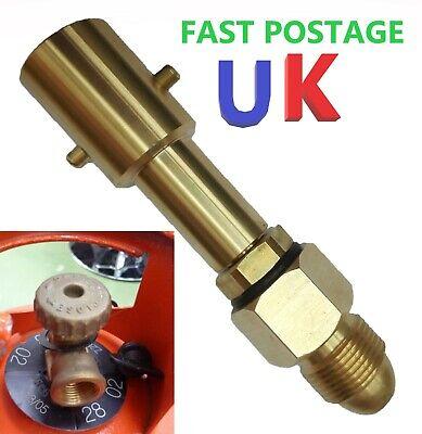 UK Bayonet LPG Filling Point Filler to Calor Gas Propane Bottle Cylinder Adapter