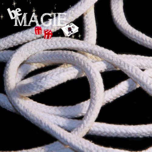 2m Corde de magicien blanche 8 mm