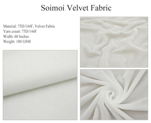 Soimoi Floral Printed 60 Wide 2-Way Stretch Velvet Dressmaking Fabric  Sewing