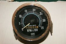 Rough Used Stewart Warner Mechanical Tachometer 3 14 3500 Rpm