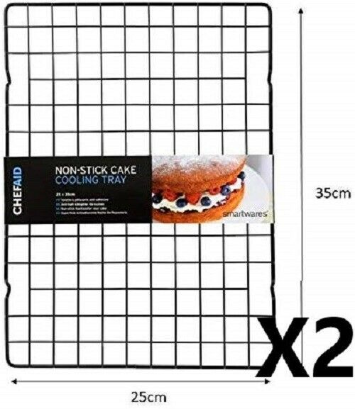 2 X Chef Aid Non Stick Cake Cooling Rack **0531