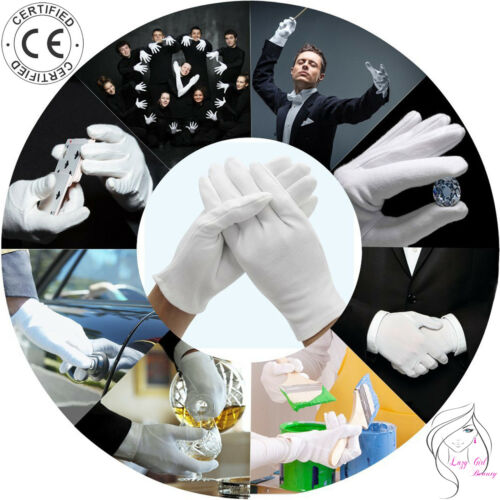 Soft White Cotton Gloves for Jewellers Beauty Art Dealers Silverware