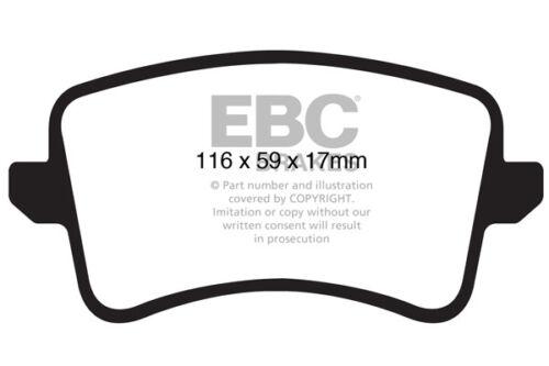 245 BHP 2011 /> 17 3.0 TD EBC Ultimax Arrière Plaquettes de frein Audi A5 Quattro B8
