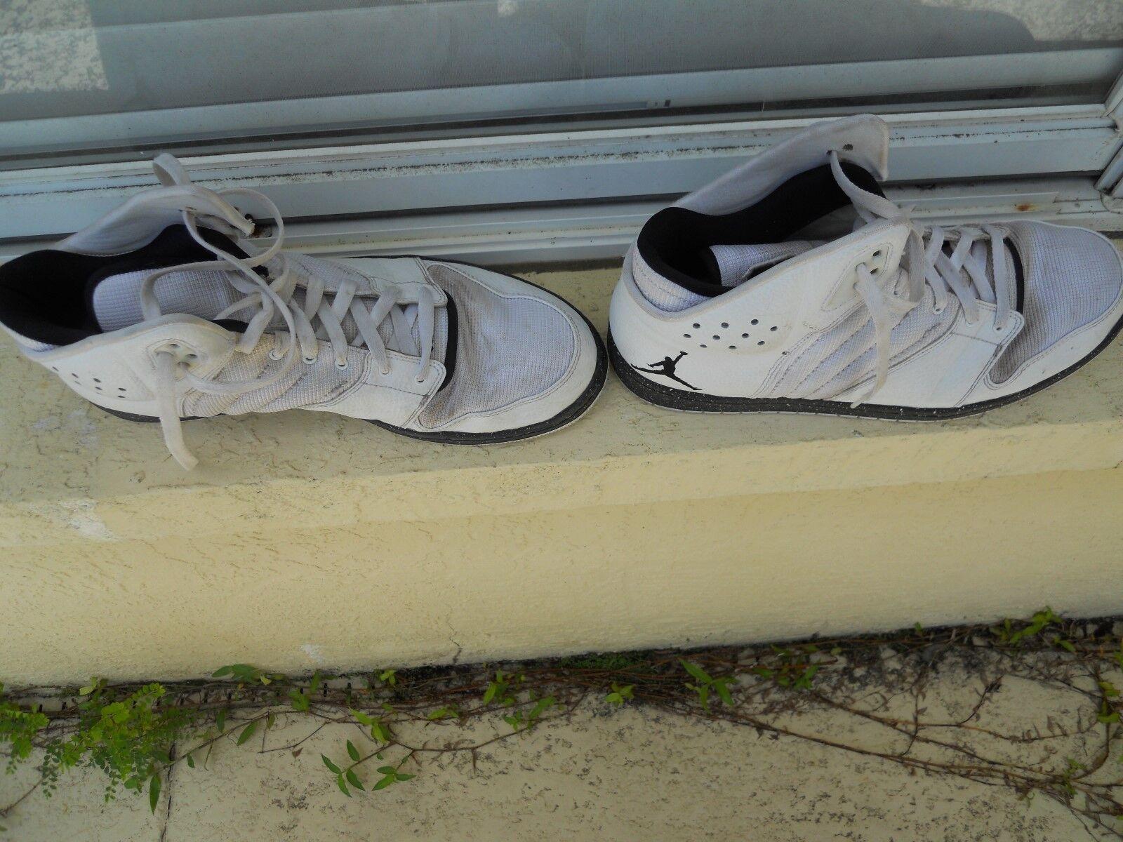 Nike 4 Air Jordan 1 Flight 4 Nike zapatos de baloncesto de los hombres blancos 838818 talla USA 0b342e