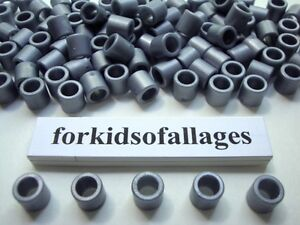 200-KNEX-SILVER-GRAY-SPACER-RINGS-Bulk-Parts-Pieces-Washers-Bushings-Spacers