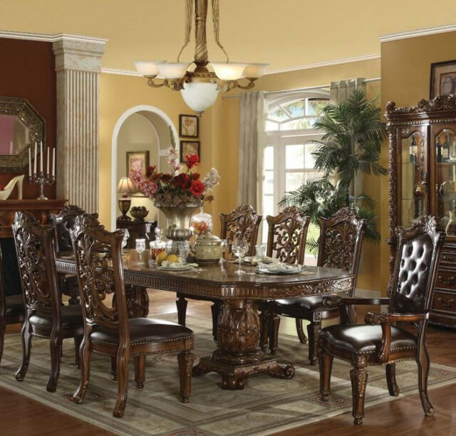 Traditional Formal Dining Room Sets: Chateau Traditional 9 Piece Formal Dining Room Set